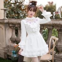 Princess sweet lolita dress Candy rain autumn and winter lace dress girl style Japanese long sleeved princess a dress C22CD7243