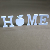 Newest A-Z & 0-9 Wooden Wood white Letters Alphabet Word 20cm Free Standing Birthday Party Home Wedding Decoration gifts