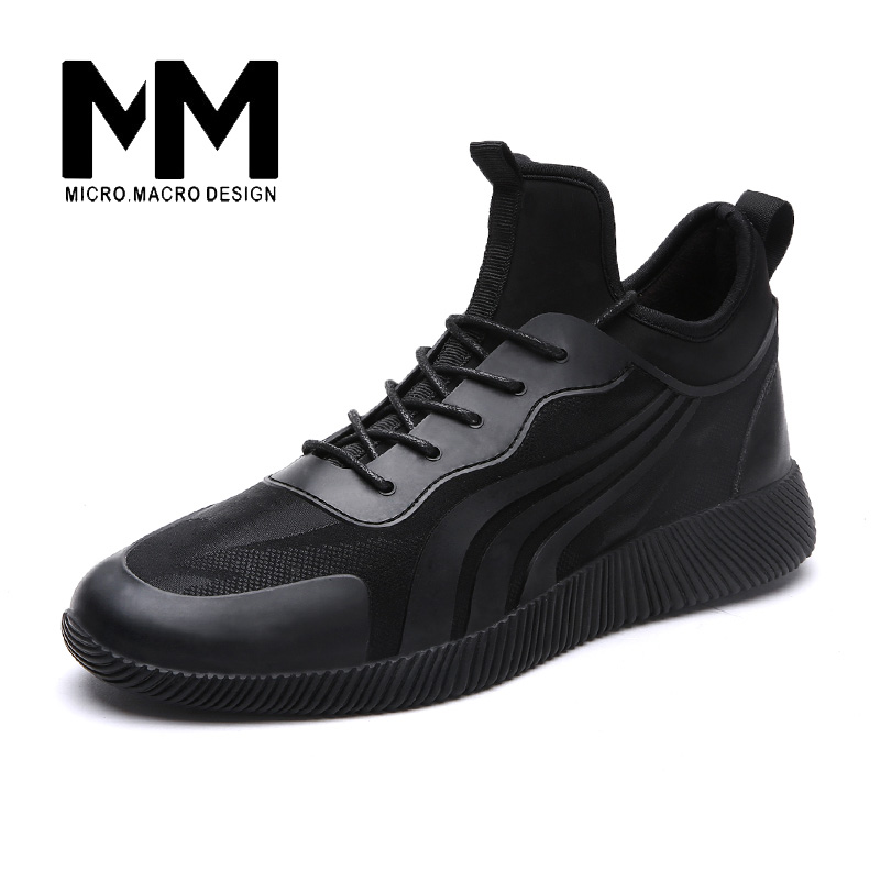 ФОТО 2017 Casual Shoes Plush Warm PU Breathable Fashion Lace-up outdoor ankle boots flat 39-44 1669M