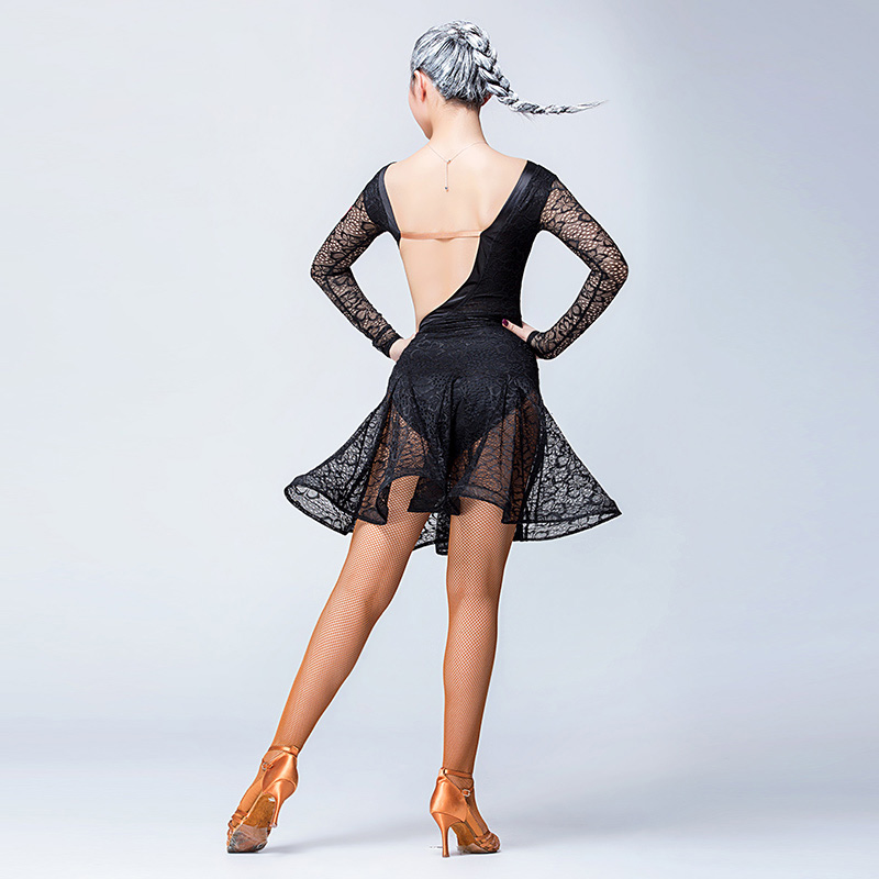new sexy lace Latin dance costume sexy Cha Cha dress for lady free shipping
