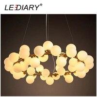 ZMISHIBO LED Pendant Lights Modern Style Living Room Lamp Ball Shape Hanging Lamps DNA Molecule 3