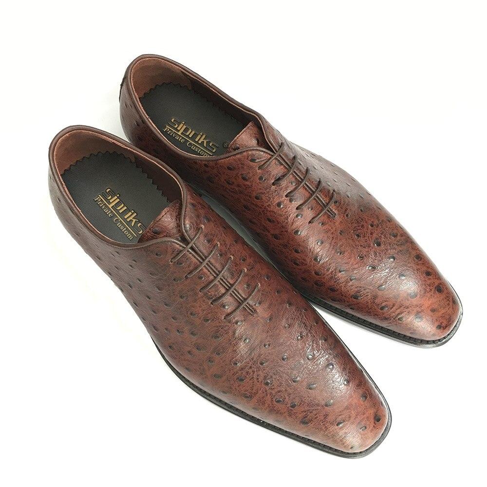 Sipriks Mens Importado Welted Oxfords De Jefe Goodyear Zapatos Azul Italiano Marrón Elegante Avestruz Hipster Vestir Brown Marino 6rwq1U65