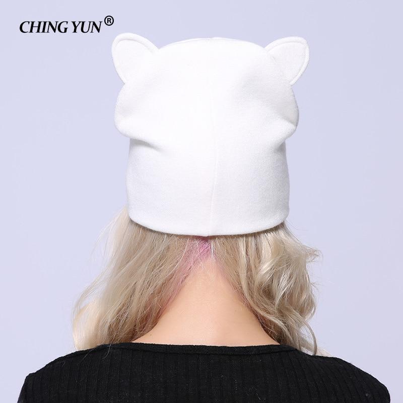 Kitten Cat Cute Animal Embroidered Beanie Hat Logo Women/'s