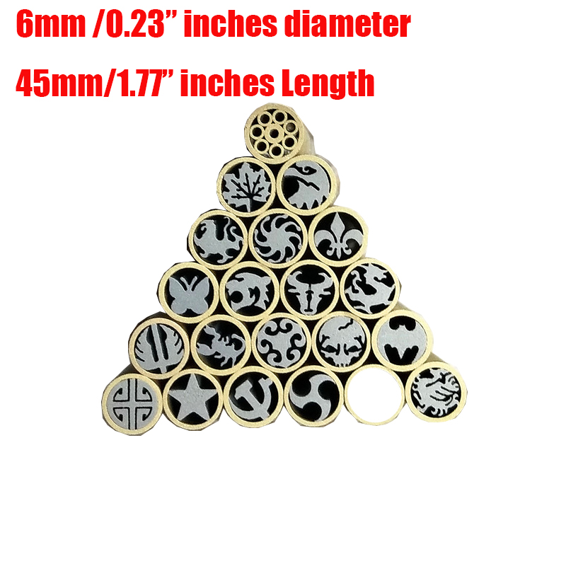 Promotion Price 6mm Knife Handle Mosaic Rivets Mosaic Screw Nail Handle Material Diy Knife Pin Nuts (no Fill In Resin)