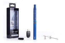 Erva seca vaporizador cigarro eletrônico evod 650mah bateria mini kit atrás cera seca atomizador caneta g5 começar kit