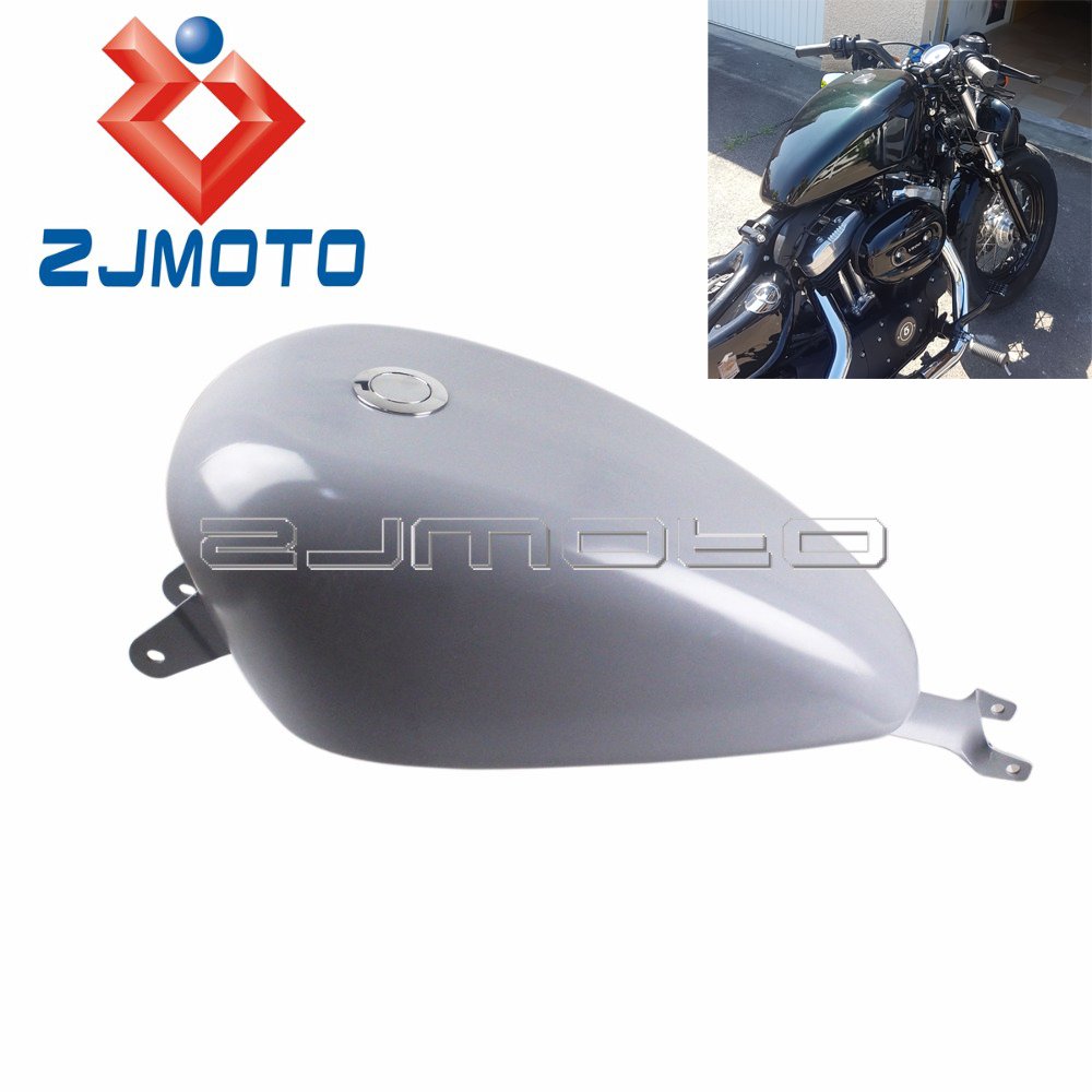 Motorcycle 3 3 Gal Fuel Tank For Harley Sportster XL 1200 883 SuperLow Iron 883 Custom
