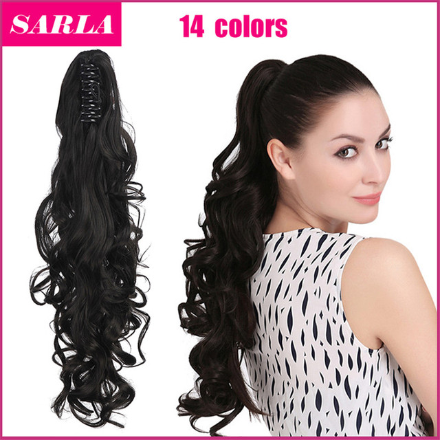 "1pcs/lot Synthetic Ponytail  Pony Tail Long Curly Claw In Ponytails Extension 20""50cm 160g Hair Festival Gift Free Shipping P006"