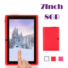 Fiable 7 pulgadas multi-color wifi quad core tablet pc hd 1024*600 google play android 4.4 8 gb