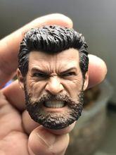 Pre-sale Custom 1/6 Scale Wolverine Head Sculpt Anger Version Roar Head Carving model toys for 12in Phicen TBleague JIAOUL doll цены