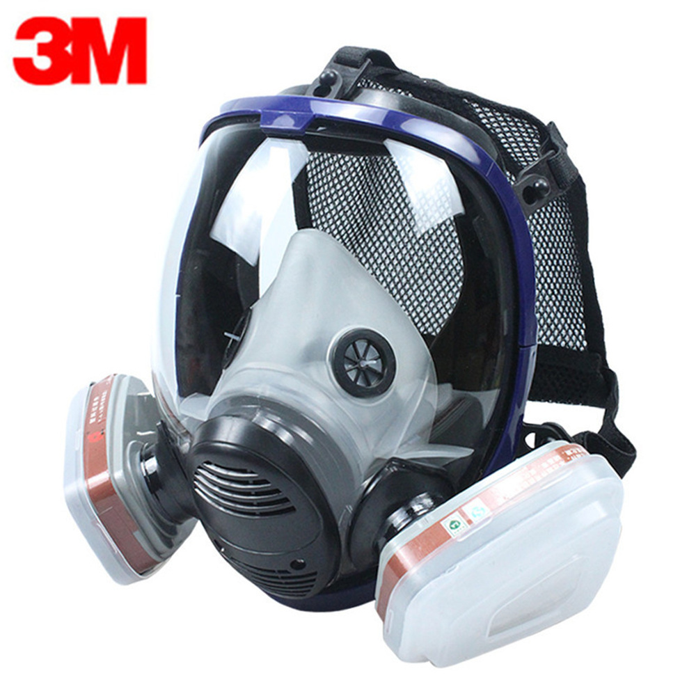 3M 7 In 1 Set Full Face Mask For 6800 Gas Mask Full Face Facepiece Respirator For Painting Spraying Protection Tool 3m 6800 6006 full facepiece mask reusable respirator filter protection masks anti multi acid gas