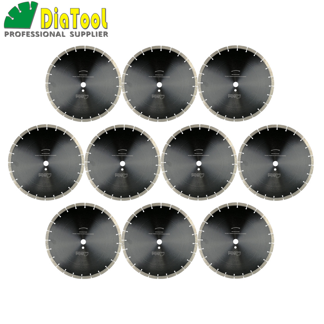 DIATOOL 10pcs 14inch Diamond Sintered Segmented Blade Cutting Disc Circular Saw Blade Dia360mm Diamond Wheel Disk Concrete Blade цены