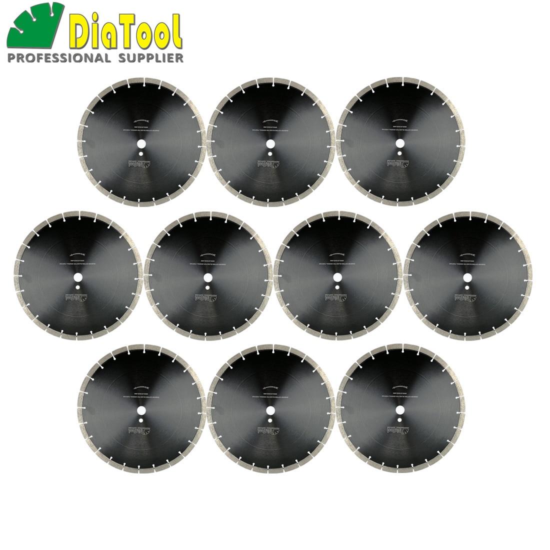 цена на DIATOOL 10pcs 14inch Diamond Sintered Segmented Blade Cutting Disc Circular Saw Blade Dia360mm Diamond Wheel Disk Concrete Blade