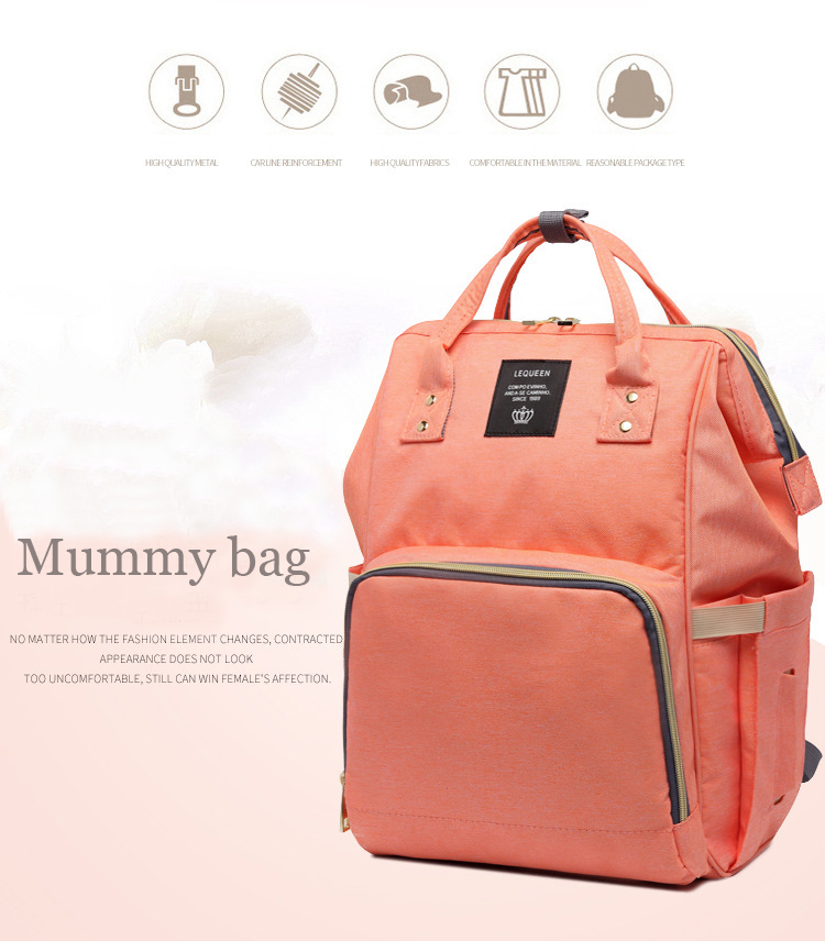 Mummy Maternity Nappy Bag Large Capacity Travel Backpack Nursing Bag for Baby Care!