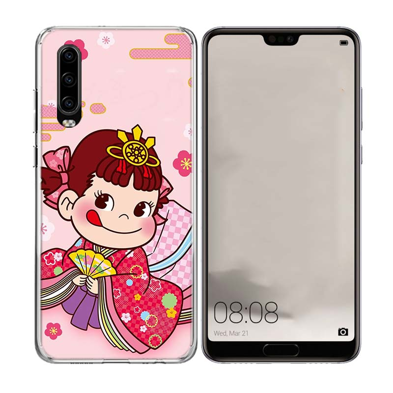 Peko Milky Girls Gift Special Soft Phone Case For Huawei Mate 20 10 Pro Lite 20X S RS Y5 Y6 Y7 Y9 2019 Prime Fit Patterned Cases in Half wrapped Cases from Cellphones Telecommunications