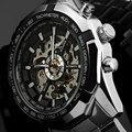 GANADOR Nuevo Lujo Superior de la Marca Sport Reloj de Los Hombres Reloj Automático Esquelético Mecánico Militar Relogio Masculino Montre Reloj Para Hombre Relojes