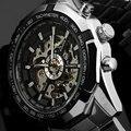 VENCEDOR Nova Marca Top de Luxo Relógio Do Esporte Dos Homens Relógio Automático Skeleton Mens Relógio Mecânico Militar Relogio Masculino Montre Relojes