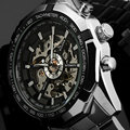 WINNER New Top Brand Luxury Sport Clock Men Automatic Watch Skeleton Military Mechanical Relogio Male Montre Watch Mens Relojes