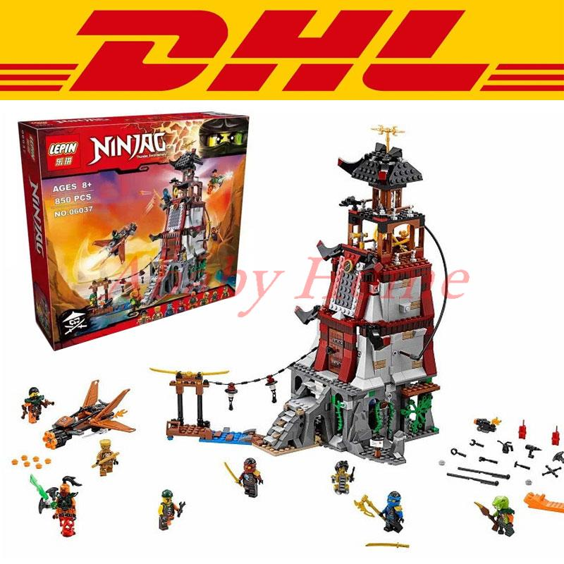 2016 850Pcs DHL font b LEPIN b font 06037 Ninja The Lighthouse Siege Model Building Kits