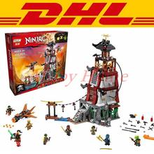 2016 850Pcs DHL LEPIN 06037 Ninja The Lighthouse Siege Model Building Kits Minifigure Blocks Brick Toys Compatible 70594
