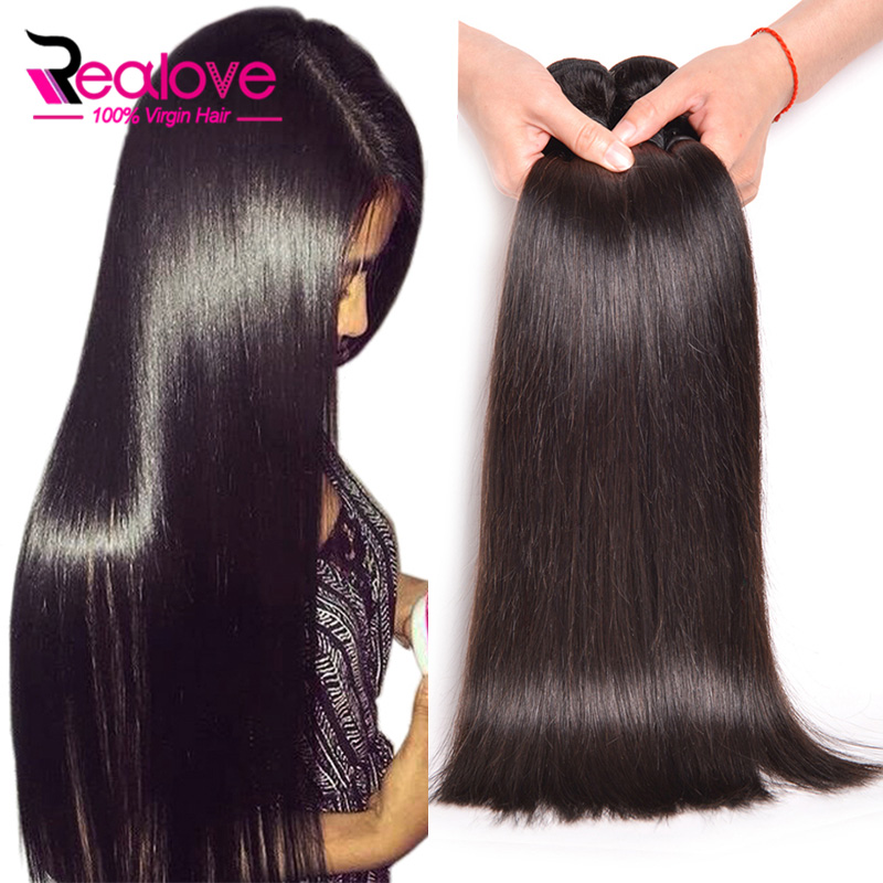Peruvian Virgin Hair Straight 4 Bundles Unprocessed ...