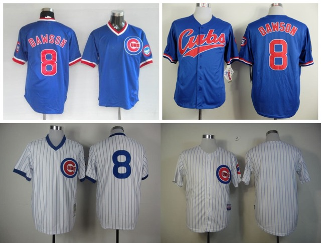 9459f687 8 Andre Dawson Jersey Chicago Cubs Retro Blue White Andre Dawson Baseball  Jersey Discount For Fans Sale Top Seller