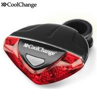 CoolChange Rainproof 4 Flashing Mode Mountain Bike Bicycle Lights Cycing Seat Post Taillights Safety Warning LED