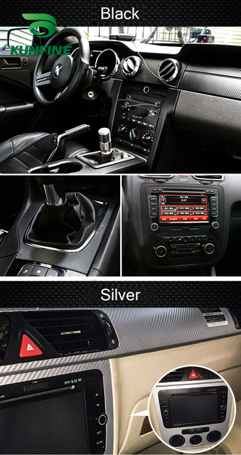 KUNFINE 3D Carbon Fiber Vinyl Car Wrap Car stickers and Decals Motorcycle Car Styling Accessories Waterproof 5