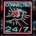 Neon Zeichen für Verbunden Hände Neon Lampen zeichen Display Handmade Glas rohr außen neon lichter für verkauf fluorescent schwarz Bord