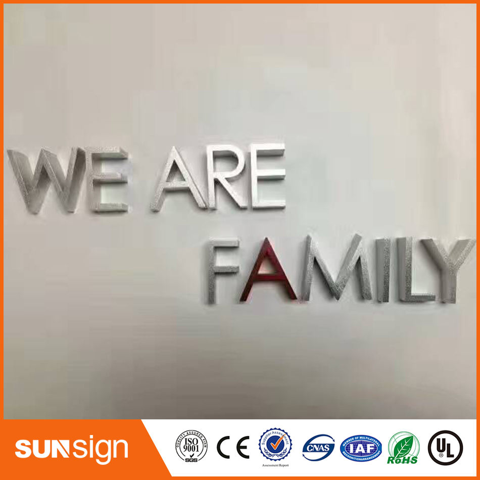Anodized Finish Water Cutting Aluminum Alphabet For Decoration