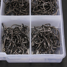 Hot Sell Fishhooks 500Pcs 10 Different Sizes Fishing Fish Hooks Fish Tackles Tool With Box Kit HS