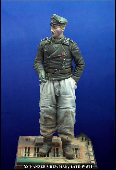 Free Shipping 1/35 Scale Unpainted Resin Figure World War II German SS tank crewman collection figure