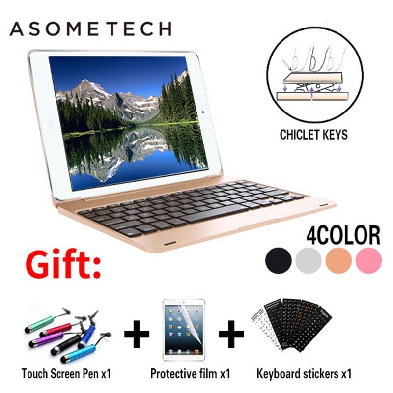 Sênior Caso Ultra fino Teclado Sem Fio Bluetooth Para O Ar iPad 2 Dock Capas Para iPad Da Apple Pro 9.7 ''ABS teclado Stand Titular