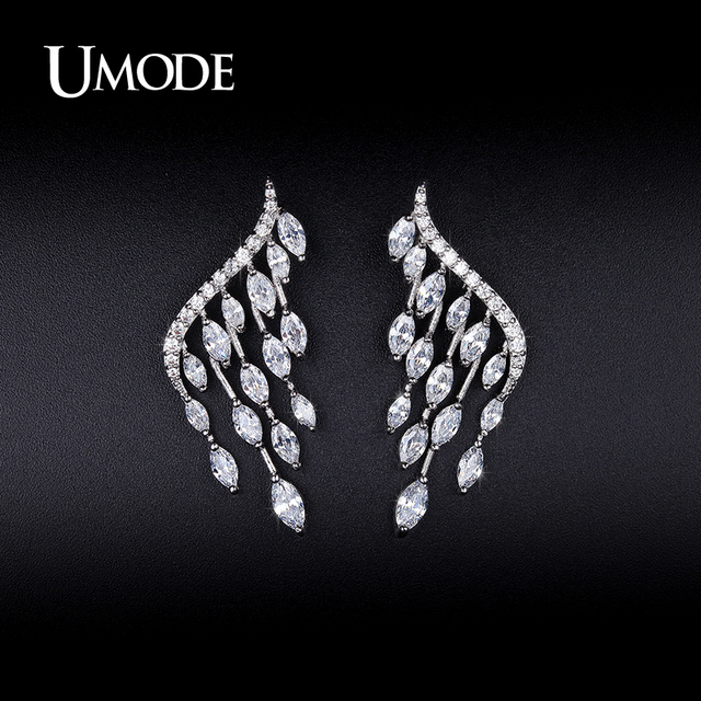 afd0ce268 UMODE New Fashion White Gold Color Women Jewelry Angel Wings Stud Earrings  Gifts Ear Studs Party