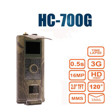 Night Vision Kamera Kamera Pułapka SMS MMS SMTP Polowanie na PODCZERWIEŃ Polowanie Trail Kamera na podczerwień 3G HC700G MP z Szerokim Anioł HC