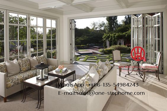 Internal Aluminum Door Garden Folding Doors,Australian Standard Aluminium Profile Soundproof Used Exterior Bi Fold Doors