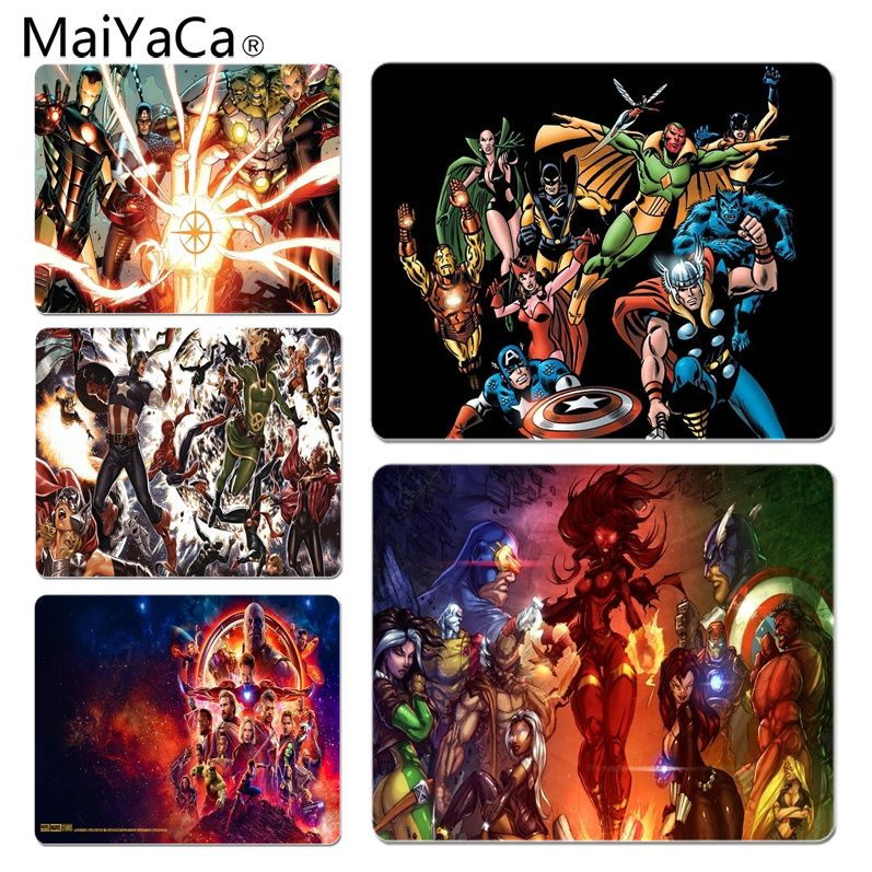 MaiYaCa The Avengers Customized laptop Gaming mouse pad Size for 25X29cm Gaming Mousepads