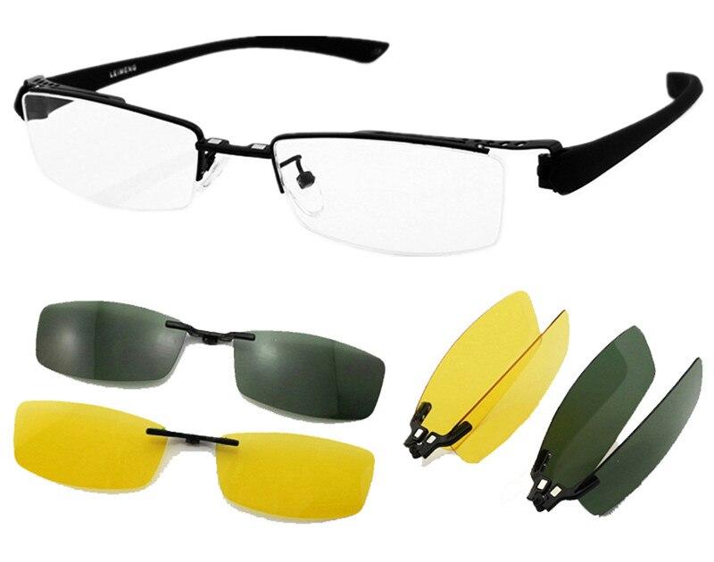 Agstum Multifunction Clips Eyeglasses Prescription Glasses Polarized Night Driving Night Vision Sunglasses Goggles