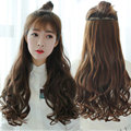 70cm 5 Clip Hair Extension Heat Resistant Fake Hairpieces Long Wavy Hairstyles Wavy Curly Synthetic Hair Clip In Hair Extension