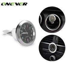 0d32e263db36 Onever coche aire cuarzo reloj auto reloj interior mini luminoso puntero  digital con clase decoración Adornos