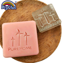 Windmill Natural Soap Making Stamp Handmade Resin Clear Organic Stamps Glass Pure Home Seal Acrylic Chapters Custom