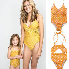 mother and daughter swimsuit mommy and me swimwear bikini family matching clothes outfits look mom mum baby dresses clothing(China)