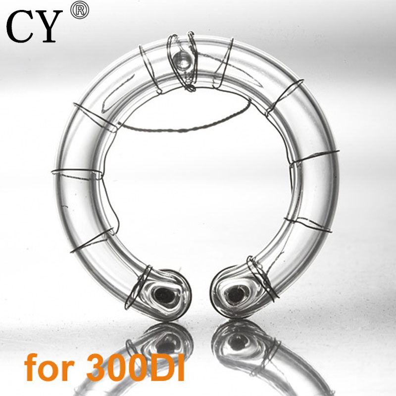 CY Professional 300ws Photo Studio Ring Flash Lamp Bulb Studio Flash Lamp Light Ring Flash Tube For Strobe Photographic Lighting