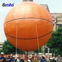 AO743 BENAO 2m Giant Inflatable Basketball Shape Helium Balloon Flying Inflatable Basketball Advertising Balloon for Parade