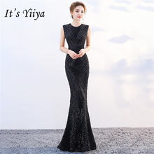 Вечернее платье с пайетками o образным вырезом it's yiiya