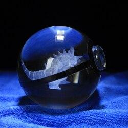 Nidoking Design Crystal Poke Ball 3D Pokemon Figures Kid's Birthday Graduation Gifts