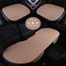 1 conjunto de almofadas de assento de carro, única capa de assento de carro para todos os sedan estilo do carro acessórios automóveis tecido linho