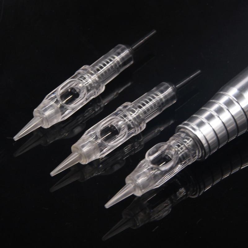 100pcs 1rl 3rl 600D-G Agulhas Easy Click Permanent Makeup Needles 5RL 5F For Tattoo Cartridge Needles Rotary Swiss Machine Pen