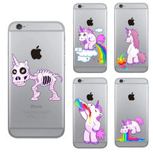 Phone Case for iPhone 5 5s se 6 6s 7 8 Plus Case Silicon Unicorn Soft TPU Cover Fundas for iPhone X XR XS Max цена и фото
