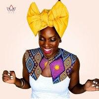 BRW 2017 בד אפריקאי בד הדפסת שעווה קולר שרשראות לנשים צווארון שווא שרשרת אפריקאית אנקרה תכשיטים בעבודת יד WYA030