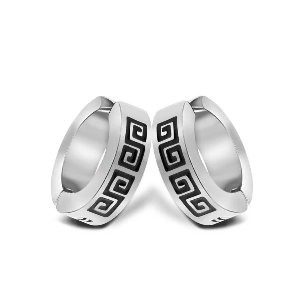 1-2 pcs Cool No Hole <font><b>Earrings</b></font> for Men Women Fashion <font><b>Clip</b></font>-<font><b>on</b></font> <font><b>Earring</b></font> Silver Stainless Steel Jewelry Without Piercing Ear <font><b>Clip</b></font> image